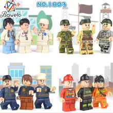 12pcs Compatible Legoing Duplo Friends Set for Girls Hospital House 2018 New Legoings Playmobil Figures Sets Police Toys(China)