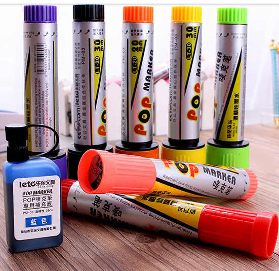 12mm Poster Pen Art Advertising Pens Painting Pen POP marker pen 12 colors papelaria graffiti