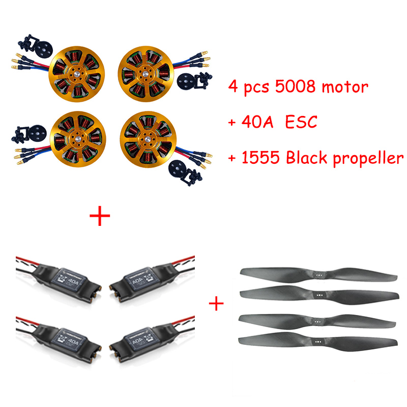4pcs Brushless Motor <font><b>5010</b></font> 340KV 280KV with 40A ESC 1555 Propeller for RC Plane image