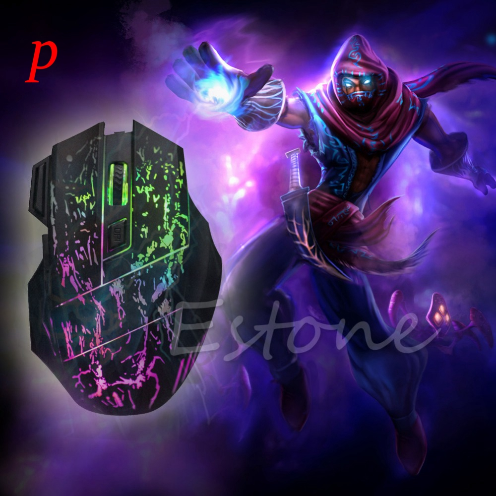 P Hot Selling 5500 DPI 7 Buttons LED Optical USB Wired Gaming Mouse Mice For Pro Gamer Mouse Color Backlight