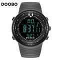 DOOBO men's LED display digital watch gray men's fashion big dial watch swim climbing outdoor male sports watch