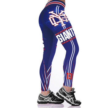 Unisex Football Team Giants 13 Print Tight Pants Workout Gym Training Running Yoga Sport Fitness Exercise Leggings Dropshipping