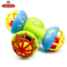 Купить с кэшбэком GEEK KING 0-12 Months  baby toys Rattles Baby Toys  rattles suit baby baby puzzle early soft rubber hand bell