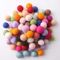 Nepal Wool Ball 120PC 2cm Multicolour Felt Balls Christmas Gift Decor Baby Room DIY Rattle Handmade Crafts Baby Accessories