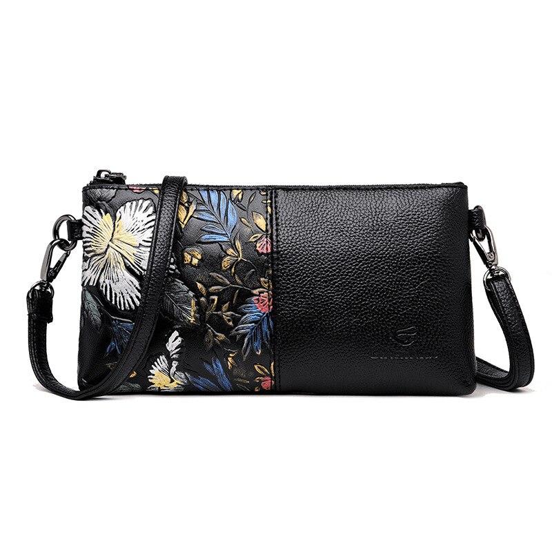 Summer Chu JJ Genuine Leather Women Bags Ladies Shoulder Crossbody Bags Women Messenger Bag Fashion Floral Clutches Bag