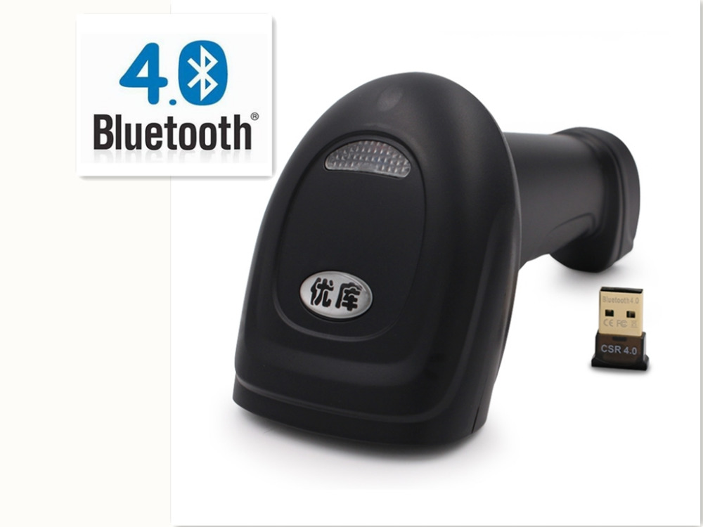 Bluetooth Wireless Barcode Scanner High Quality D laser scanner Holder available Free
