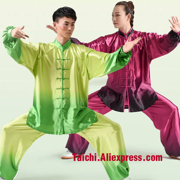 Gradual Change Color   Performance Male & Female   Tai Chi Uniform Wushu, Kung Fu,martial Art Suit