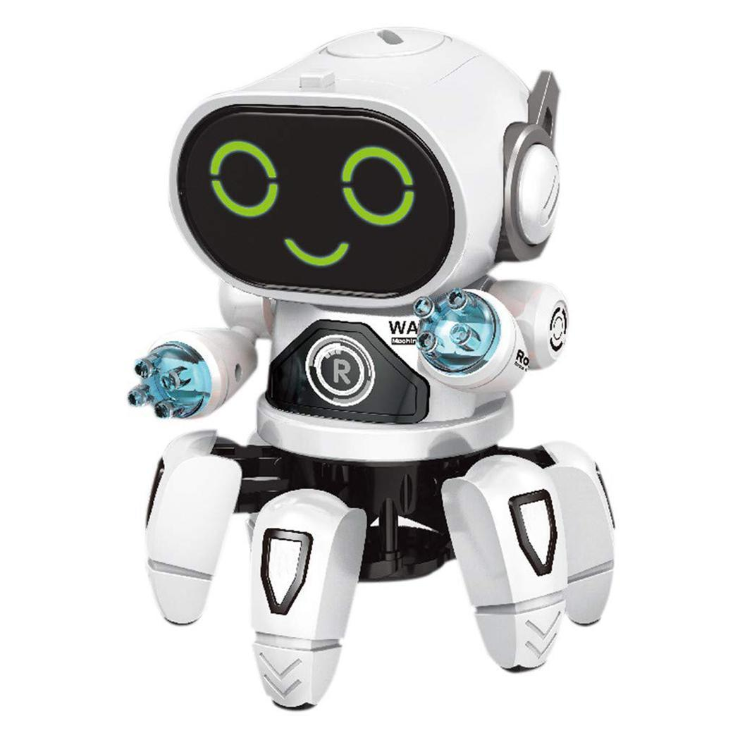 Dancing Robot Music Light Electronic Children Toy Gift 7-Color Kindergarten Fish Six-Claw