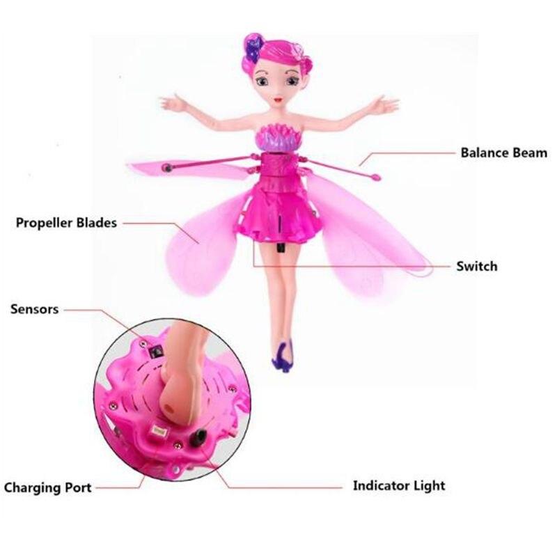 Lustige Fliegende Fee Puppen Spielzeug