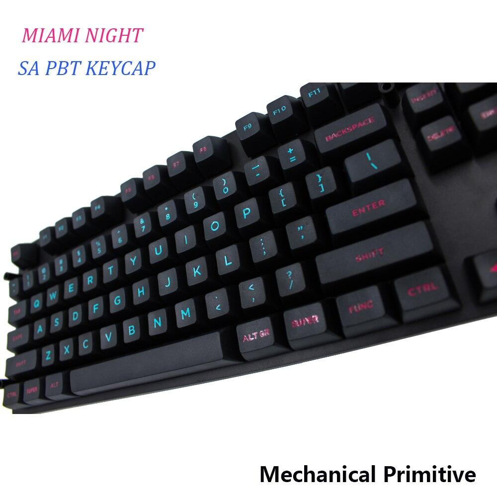 4888 6 De Descuentomp Sa Pbt Keycap Miami Grabado Fuentes Para Colorear Keycap Cherry Mx Switch Keycaps Para Teclado Mecánico Usb Con Cable En