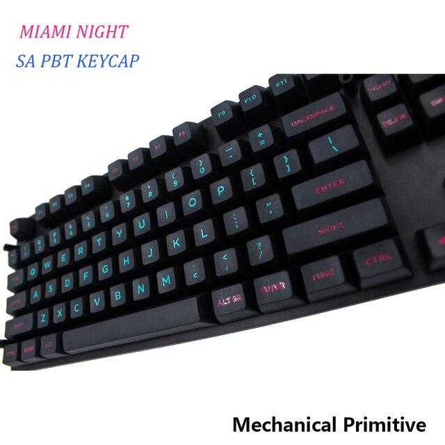 Mp Sa Pbt Keycap Miami Grabado Fuentes Para Colorear Keycap Cherry