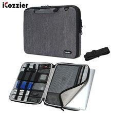 ICozzier 17,3 15 zoll Griff Laptop Aktentasche Schulter Tasche Messenger Trage Laptop Sleeve Schutz Tasche mit Schulter Gurt