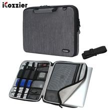 Icozzier 17.3 15 인치 핸들 노트북 서류 가방 어깨 가방 메신저 휴대용 노트북 슬리브 보호 가방 어깨 끈