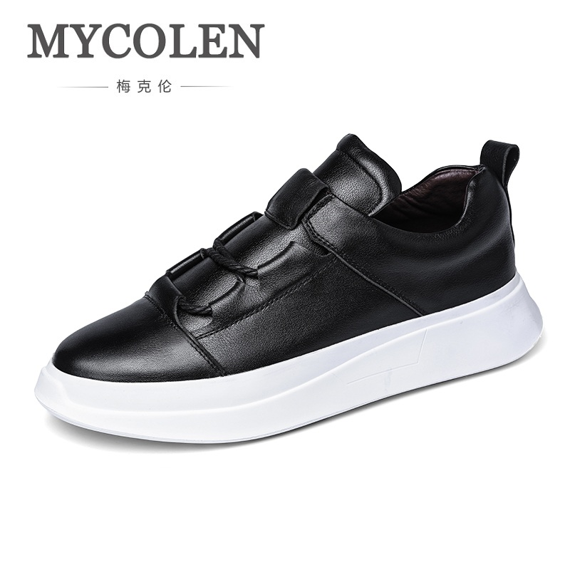 MYCOLEN Luxury Brand Men Shoes Genuine Leather Comfort Casual Shoes Spring Autumn Lace Up Men Fashion Sneakers Zapatillas Hombre spring autumn casual men s shoes fashion breathable white shoes men flat youth trendy sneakers