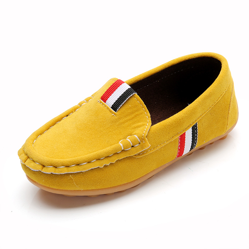 2018 Spring Kids Coral Velvet Casual Shoes Boys Gilrs Yellow Dance Shoes Children Boy Girl Loafers Slip-on Moccasins EUR 21-36