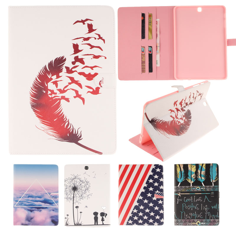 USA UK Flag Magnetic Stand Flip Pu Leather Case For Samsung Galaxy Tab S2 9.7 T815 T810 Tablet Back Cover With Card Slots Fundas