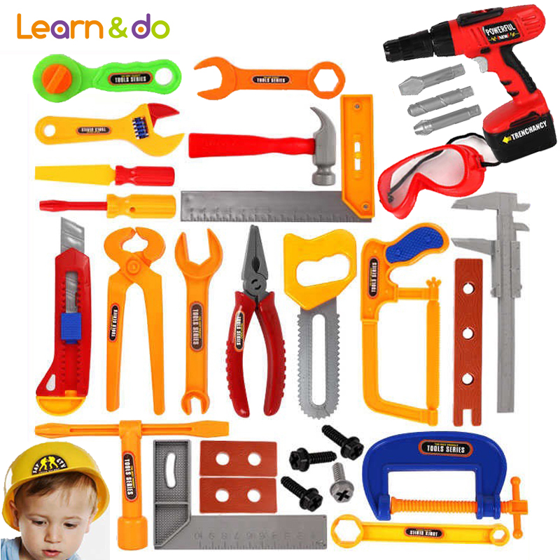 19 37pcs set Repair Tools Toys Classic Pretend Play Model Tool Toy for Children Early Learning