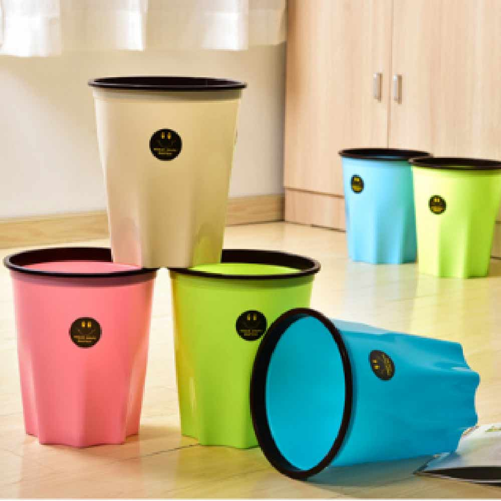 Creative Octagonal Kitchen Living Room Bedroom Decoration Garden Watering Trash Cans Household Plastic Pressure Ring Without