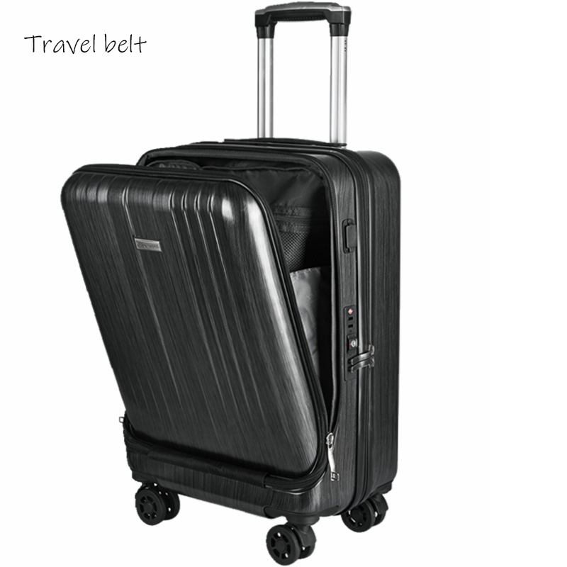 Flip computer Rolling Luggage Spinner 20 inch brand Travel Bags Men Business UBS travel Bags Suitcase WheelsFlip computer Rolling Luggage Spinner 20 inch brand Travel Bags Men Business UBS travel Bags Suitcase Wheels