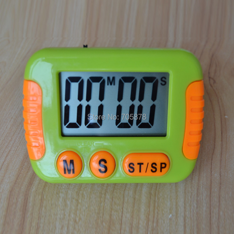 Kitchen Timer Digital Cooking Large LCD Display Count 100 Minutes Switch Memory funtion Green One - Zhuhai WAYHOOM Technology Co,LTD. store