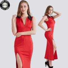bf3753f4fa72 QBKDPU Women s Summer Dress Sexy Sit Tight Slim Party Dress Sleeveless Turn-down  Collar Dress
