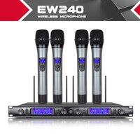 Xtuga EW240 4 канала Беспроводной микрофоны Системы UHF караоке Системы Беспроводные 4 ручной микрофон для этапе церкви Применение для вечерние
