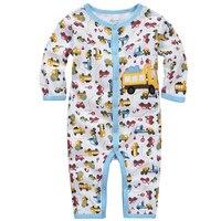 Y345 de Pernas Longas longo-sleeved Romper escalada roupas roupas de outono das crianças do bebê menino um collant truck padrão de impressão