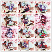 Animation Chiese Grandmaster of Demonic mo dao zhu Lan Zhan Wei Ying Key Holder Acrylic Keychain Keyrings Pendant(China)