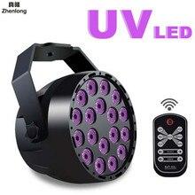 LED Par Uv violet Discofoam partie Machine Par LED lumière d'étape DMX512 pour DJ Party Club mariage noël Halloween 54W 18LED