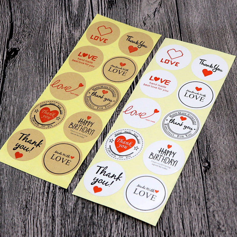 DIy Black Thank You Seal Sticker Labels Pretty Varous Handmade Jewelry Package Labels Decoration Tag Labels100pcs 3.5cm Round