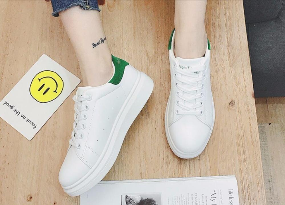 Loisirs Automne Étudiant Période pink Respirant Nouvel Chaussures Joker Fashio green Blanc Black Fond Et Le Printemps Femmes Épais 5qXfTxwfvn