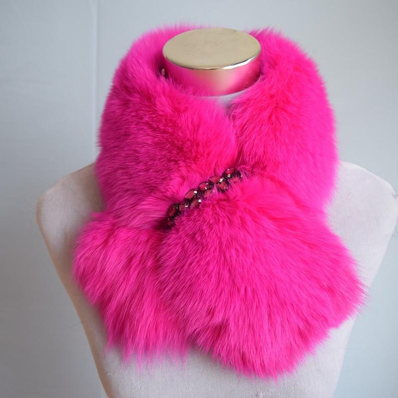 Winter Rushed Limited Women Vuxen Solid Ring 70cm Long Real Fox Fur - Kläder tillbehör - Foto 5