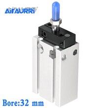 Bore stroke32- 5 10 15 20 25 30 40 50mm CUK/CDUK Non-rotating piston rod  Double acting single Free Mount Cylinder