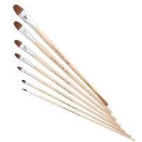 7pcs Set Volume Weasel S Hair Painting Brush Hook Line Pen Artist Oil Painting Brushes Drawing
