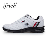 Ifrich Big Size Running Shoes For Men Spring/Autumn Sport Walking Sneakers Leather Mens Trainers Brand Black White Trail Shoes