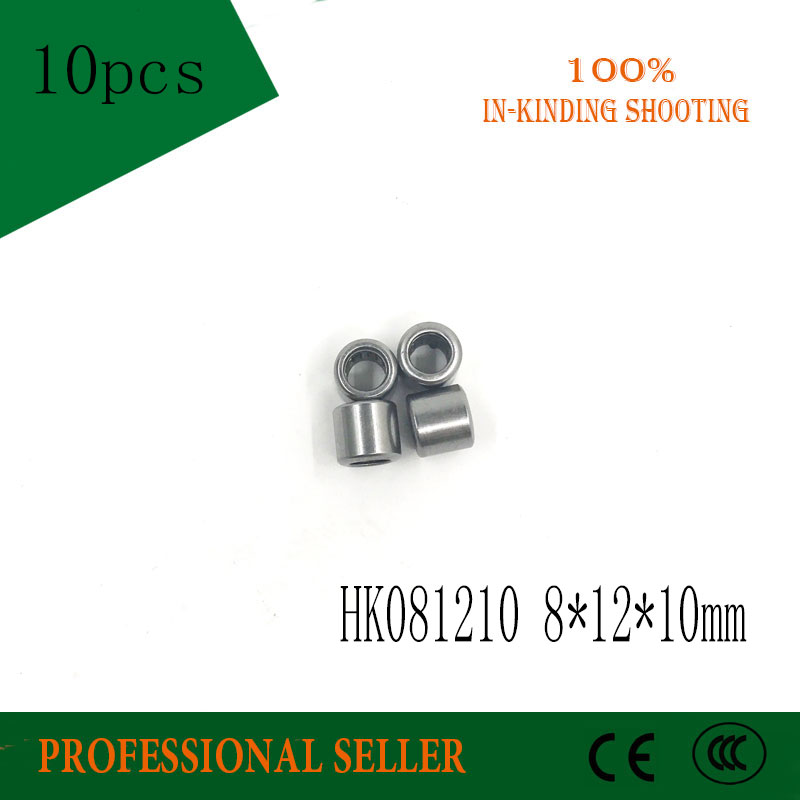 Free Shipping 10pc HK0810 HK081210 57941/8 57941/6 8*12*10 Mm 8X12X10mm Needle Roller Whosale And Retail Draw Cup Bearing