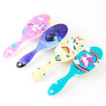 Unicorn Animal Anti-static Hair Brush Massage Comb Shower Wet Detangle Hair Brush Salon Hair Styling Tools Four Colors
