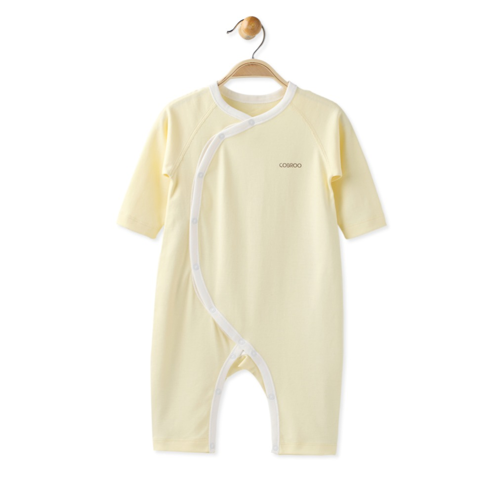 COBROO Baby Girl Boy Rompers with Long Sleeve Solid Color Unisex Baby Cotton One Pieces 0 3 6 9 12 Months in Rompers from Mother Kids