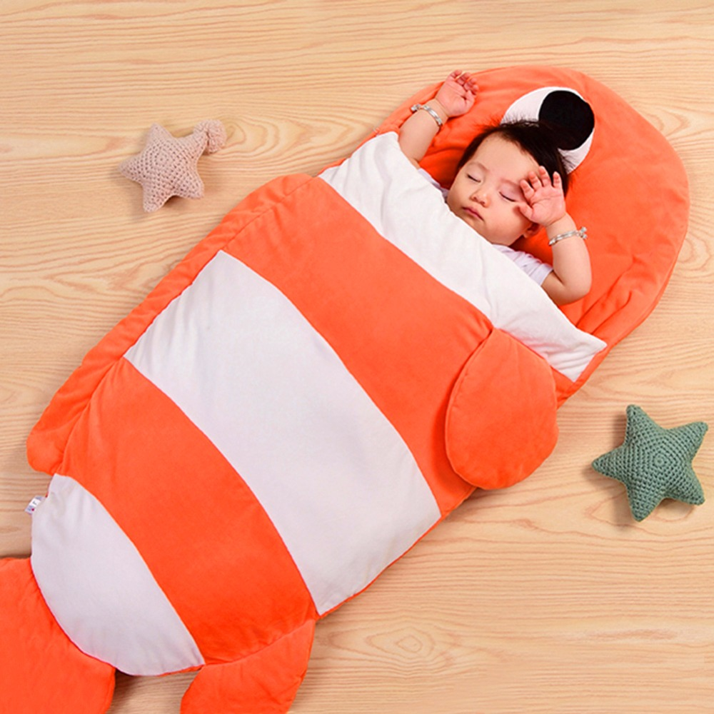 5 Colors Baby Sleeping Bag Soft Cotton Thick Blanket