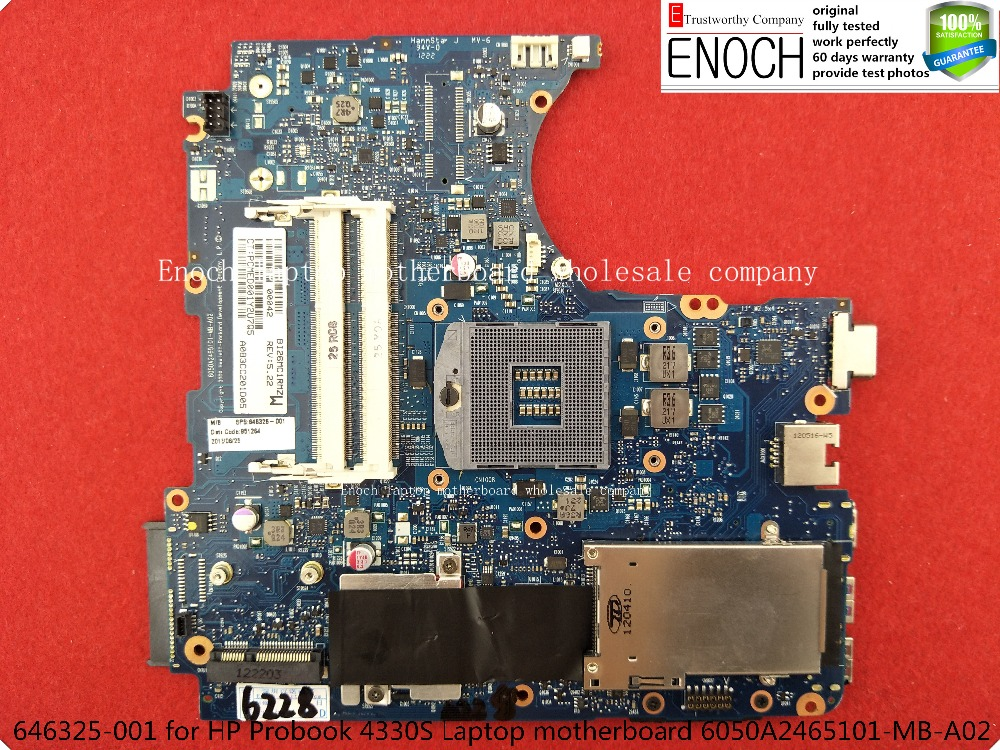 Подробнее о 646325-001   for HP Probook 4330S Laptop motherboard Integrated  6050A2465101-MB-A02        store No.199 original 686036 001 for hp probook 6470p motherboard 686040 001 hm76 integrated 100