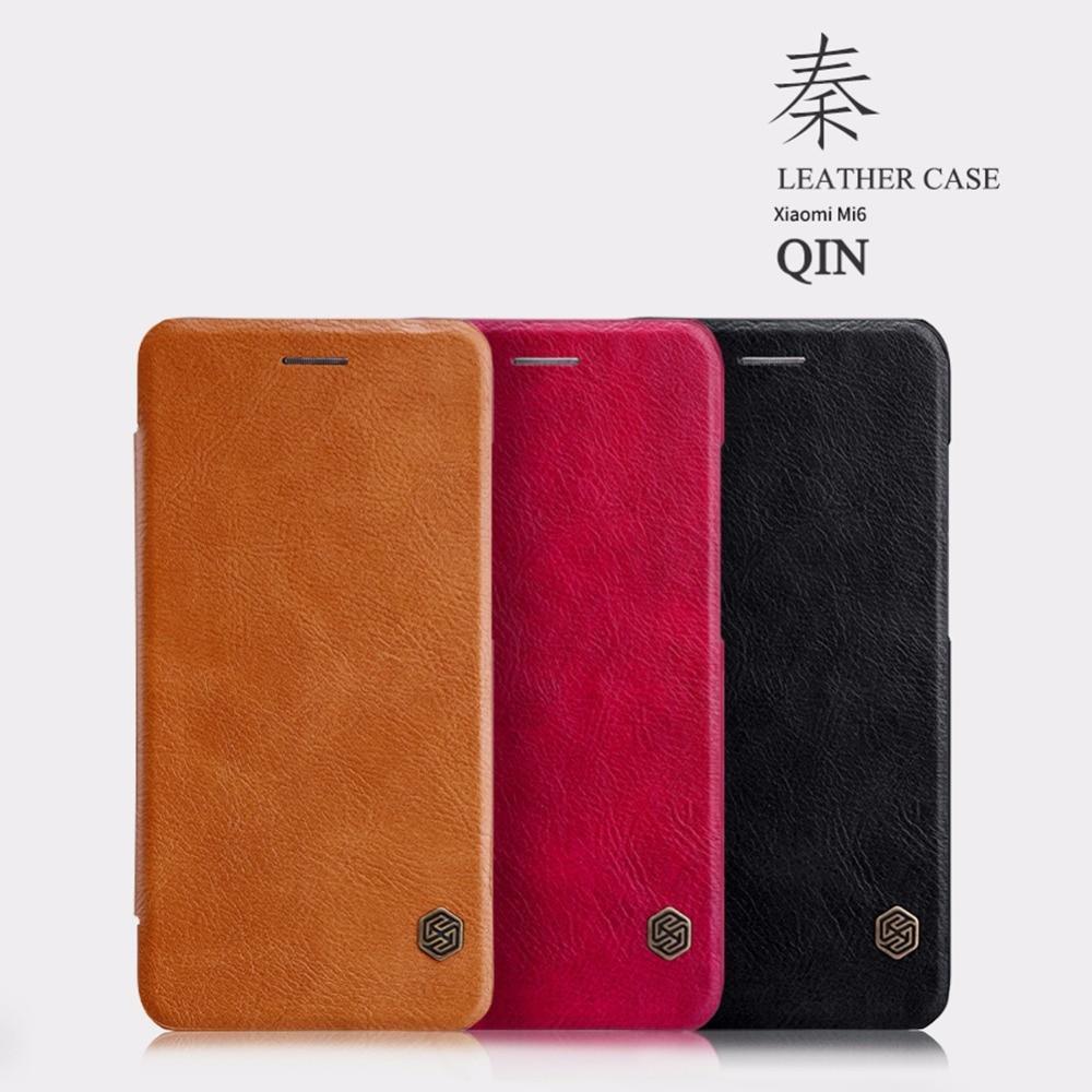Nillkin QIN Series XIAOMI mi6 mi 6 Flip Cover Case With Luxury Brand Use Fine Leather 360 Degree Protection For xiaomi mi6 mi 6