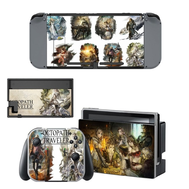 Nintend Switch Vinyl Skins Sticker For Nintendo Switch Console and Controller Skin Set - Octopath Traveler 1