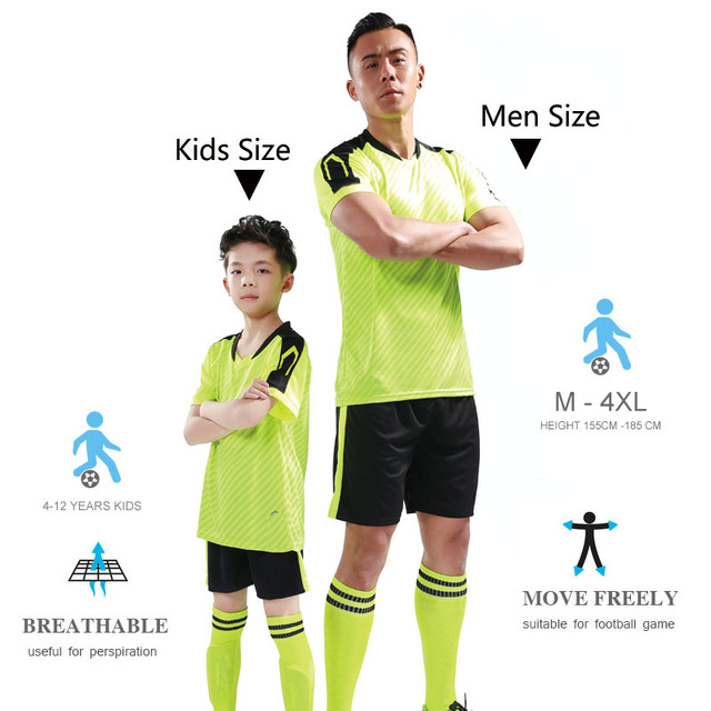 2019 New DIY Children Football Jerseys Boys Soccer Clothes Sets Short Sleeve Men Football Uniforms Kids Soccer Tracksuit Jersey