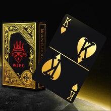 Золотой фольгированный пластиковый покер игра игральные карты Подарочная Коллекция Черный покер карты играть трюк подарок 3 цвета