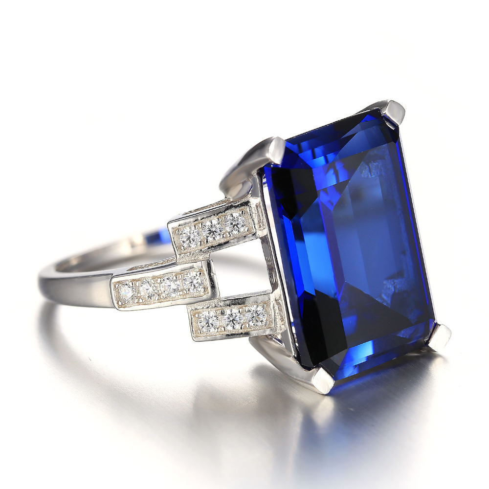 Jewelrypalace Luxury Emerald Cut 9 6ct Created Blue