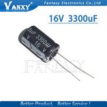 10PCS Higt quality 16V3300UF 13X25MM 3300UF 16V 13*25 Electrolytic capacitor