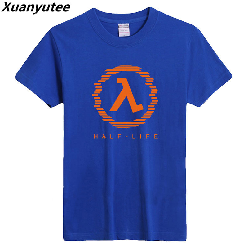 Xuanyutee 2018 New Arrival Game Style HALF LIFE Mens Print T-shirts Cotton 6.2oz Sportswear Short Sleeve O-neck 14 Color T shirt