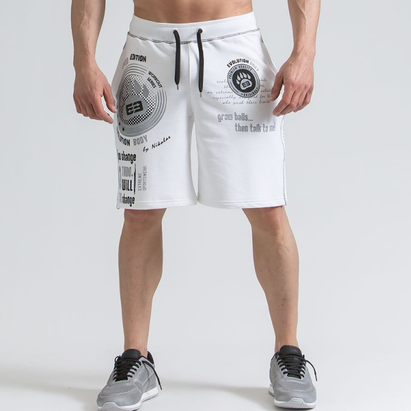 2018 New Men summer Loose cotton shorts Running jogging sports Gym Fitness Sweatpants male workout Crossfit Man short pants