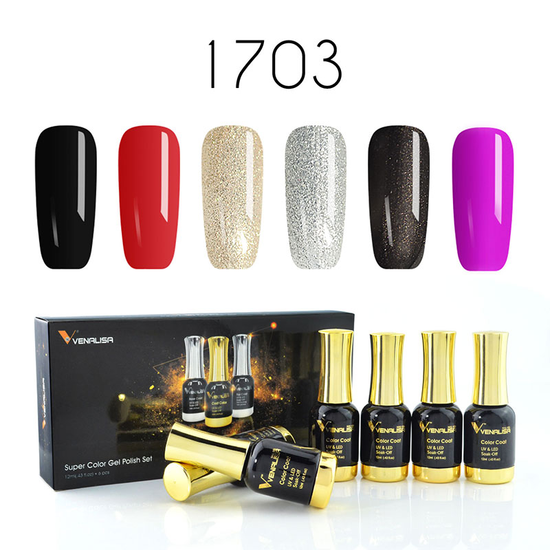 Venalisa 12ml Soak off Nail Art Learner Design Gel Nail Polish DIY Kit UV Mirror Gel