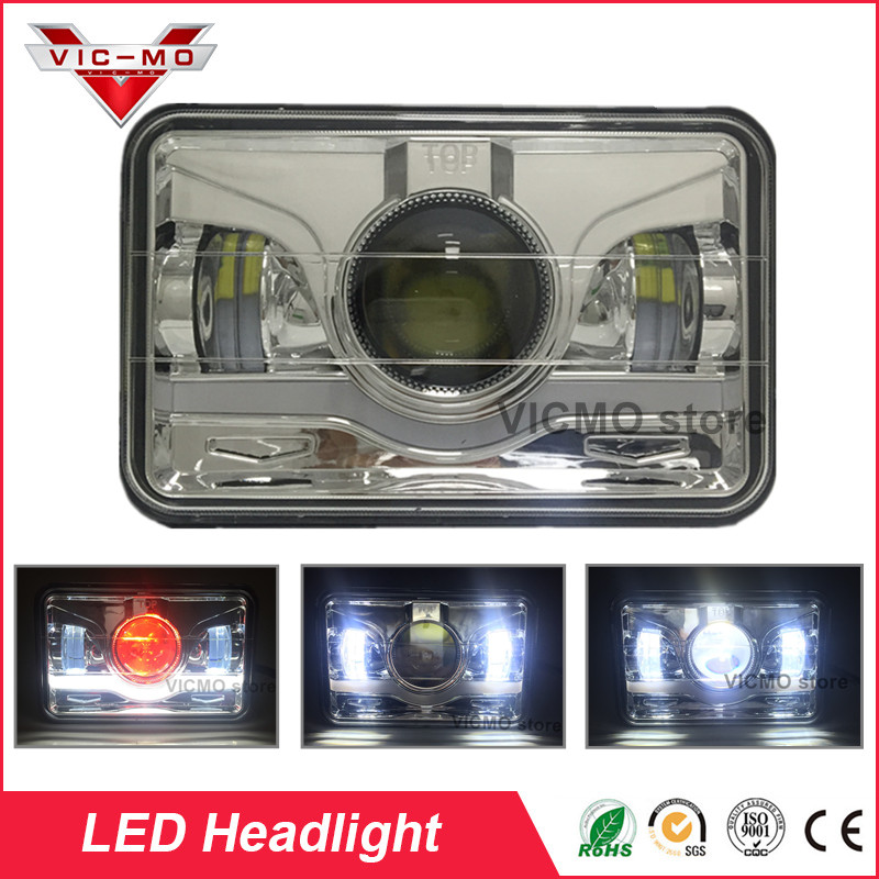 1 Pair 45w Led Rectangle Light Replacement 4x6 Square